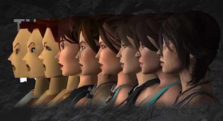 Lara Croft'un gelişimi bu videoda
