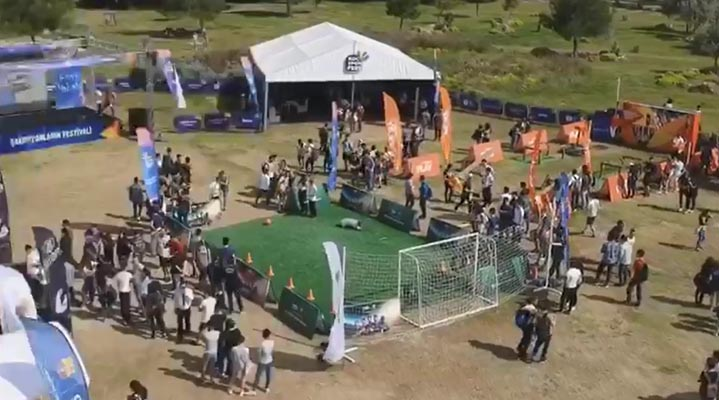 Antalya Koç Spor Fest'ten renkli görüntüler